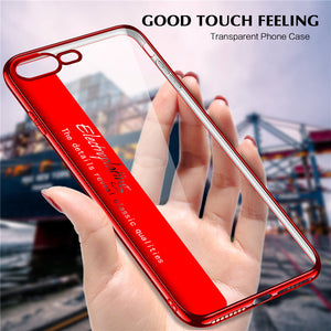 Transparent Phone Case For iPhone Electropating Cases