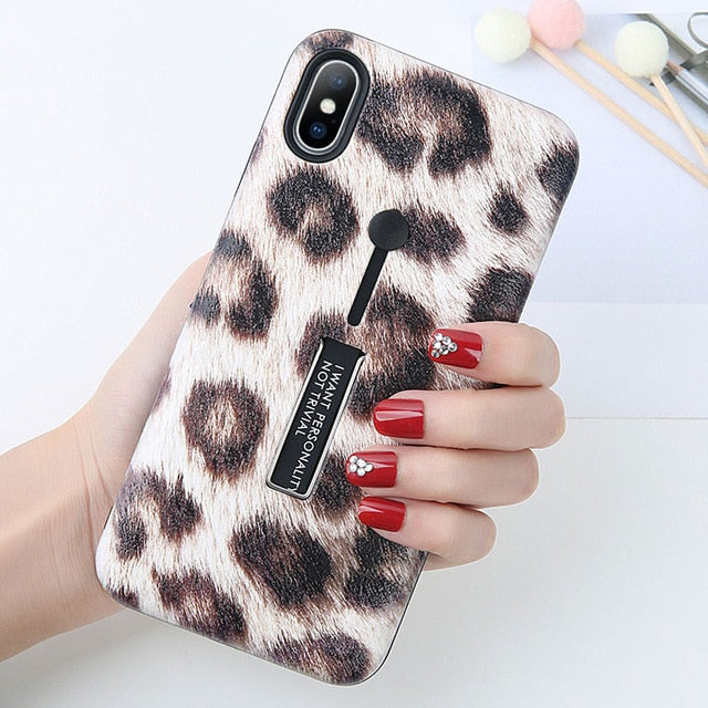 Retro Leopard Print Case For iPhone