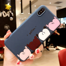 Load image into Gallery viewer, Funny Phone Case For iPhone Cartoon Pig Ass Pattern