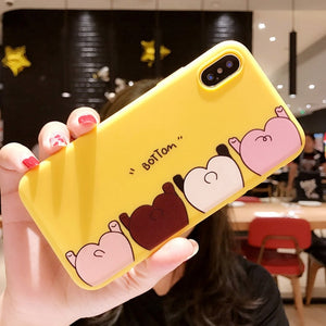 Funny Phone Case For iPhone Cartoon Pig Ass Pattern