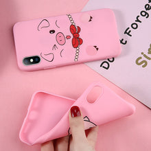 Load image into Gallery viewer, Pig Pattern Cute Cartoon Case For iPhone