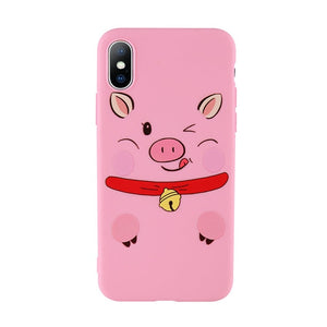 Pig Pattern Cute Cartoon Case For iPhone