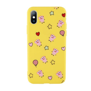 Love Heart Pig Pattern Cases for iPhone