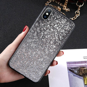 Glitter Gradient Color Phone Case For iPhone