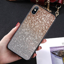 Load image into Gallery viewer, Glitter Gradient Color Phone Case For iPhone