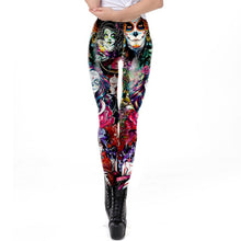 Load image into Gallery viewer, Dead Girl Skull Horrible Scary Fitness Women's Black Printed Legging