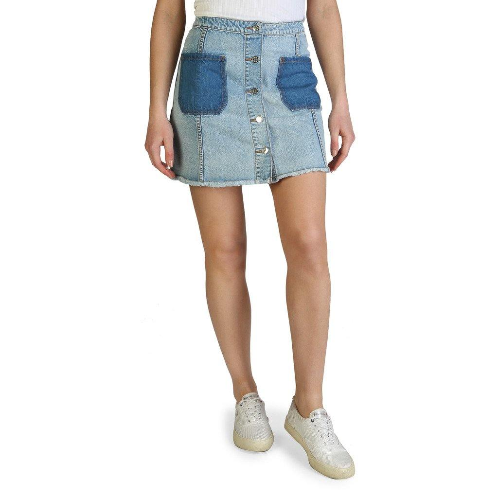 Armani Exchange - Solid Button Through Denim Skirt - Brands On Sale