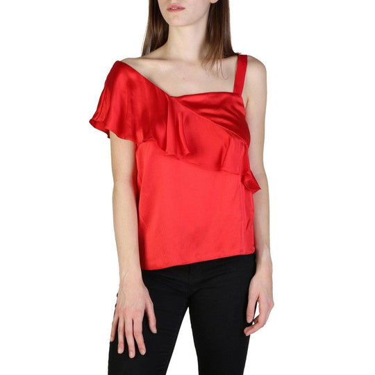 Armani Exchange Shiny Silk Top