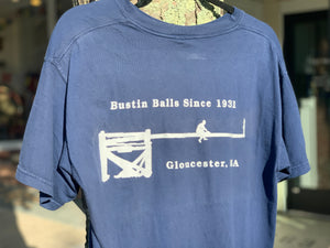 """Bustin' Balls Since 1931"" - Greasy Pole Navy T-Shirt"