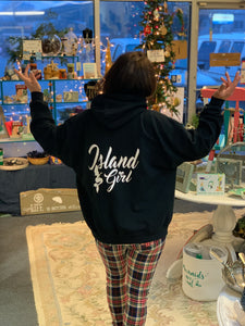 "Island Girl and Mermaid - Gloucester ""Glosta"" Hooded Sweatshirt"