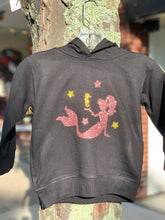 Load image into Gallery viewer, Sparkly Pink Mermaid Children's Hooded Sweatshirt