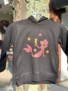 Sparkly Pink Mermaid Children's Hooded Sweatshirt