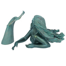 Load image into Gallery viewer, Two-Piece Swimming Mermaid Statue
