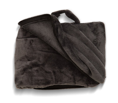 The Insatiable Traveler Loves Our Fold 'N Go Blanket and Travel Case™