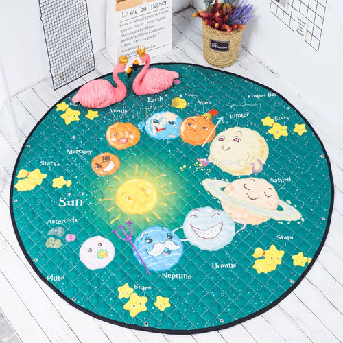Space Themed Soft Cotton Play Mat - Nested Nurseries