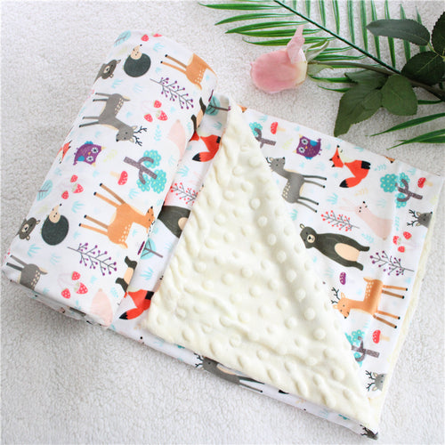 Double Sided Blankets - Assorted Colours - Nested Nurseries