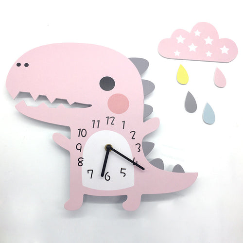 Dinosaur Wall Clock - Assorted Colours - Nested Nurseries