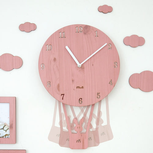 Swinging Balloon Wall Clock - Assorted Colours - Nested Nurseries