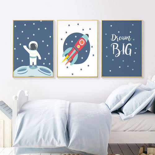 Astronaut Wall Prints Collection - Nested Nurseries