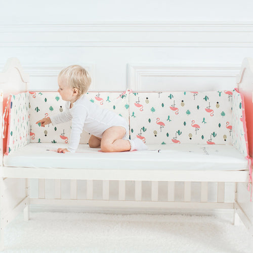 Flamingo Cot Bumper - Nested Nurseries