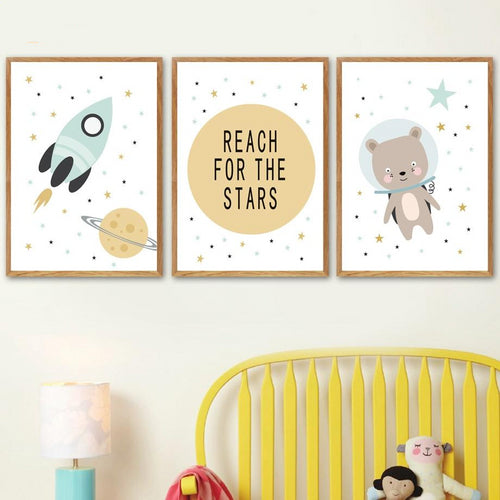 Space Theme Wall Prints Collection - Nested Nurseries