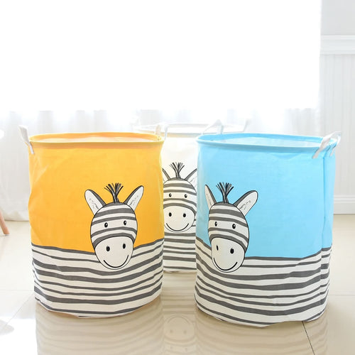 Zebra Storage Basket - Assorted Colours - Nested Nurseries