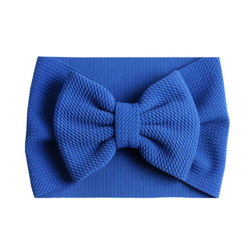 Blue Bow Headband - Nested Nurseries