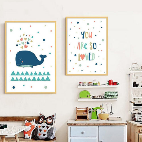 Whale Wall Print - Nested Nurseries