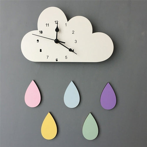 Raindrop Wall Clock - Nested Nurseries
