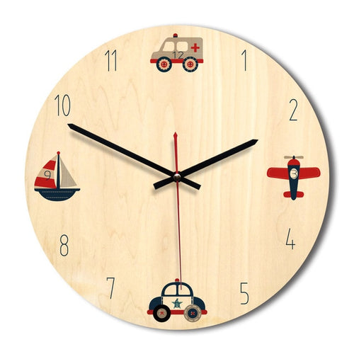 Transport Wall Clock Collection - Nested Nurseries