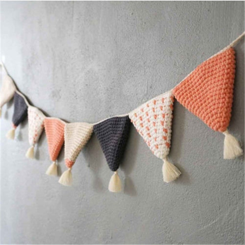 Handmade Crochet Bunting - Assorted Colours - Nested Nurseries