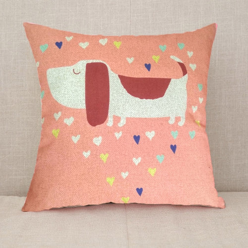 Sausage Dog Cushion Cover - Nested Nurseries