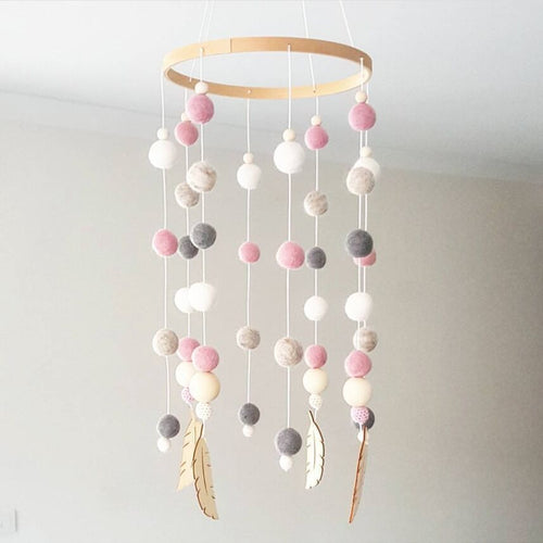 Pom Pom Mobile - Assorted Colours - Nested Nurseries