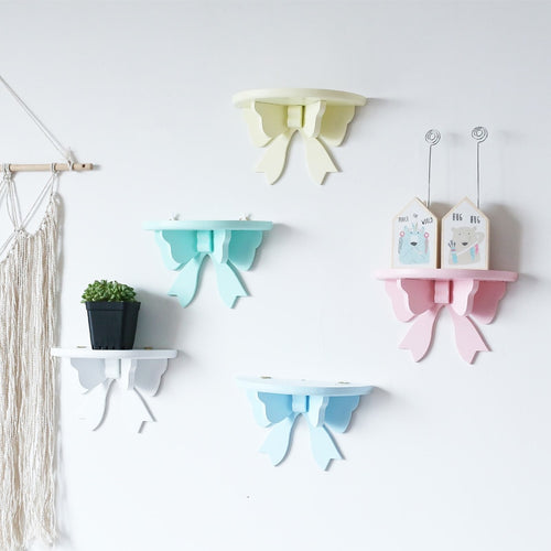 Bow Wall Shelves - Assorted Colours - Nested Nurseries