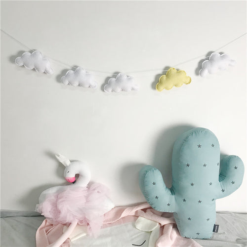 Felt Cloud Garland - Assorted Colours - Nested Nurseries