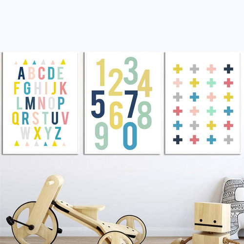 Alphabet Wall Prints Collection - Nested Nurseries