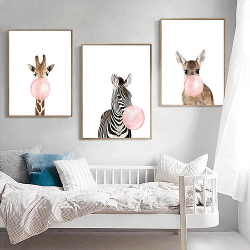 Quirky Animal Wall Prints Collection