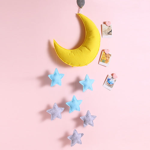 Handmade Moon Mobile - Assorted Colours - Nested Nurseries