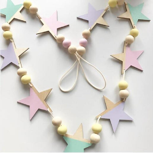 Beaded Star Garland - Assorted Colours - Nested Nurseries