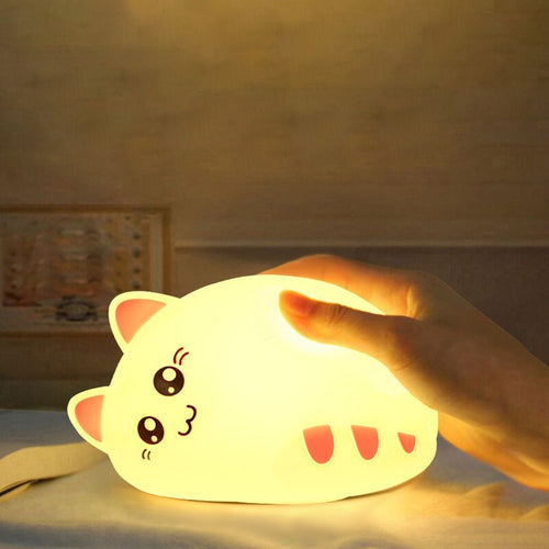 Sleepy Cat Night Light - Nested Nurseries