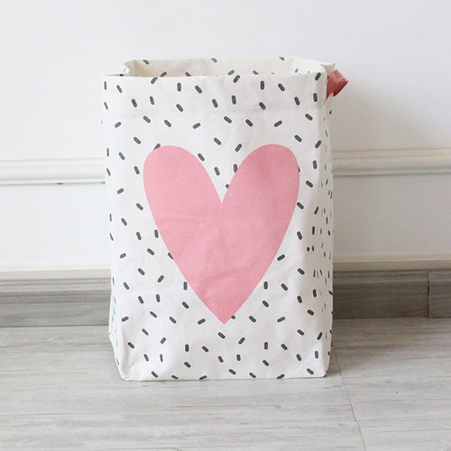 Linen Heart Hamper Collection - Nested Nurseries