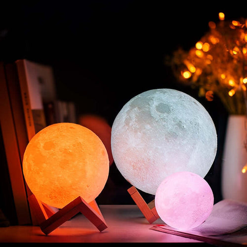 3D Moon Lamp Night Light - Nested Nurseries