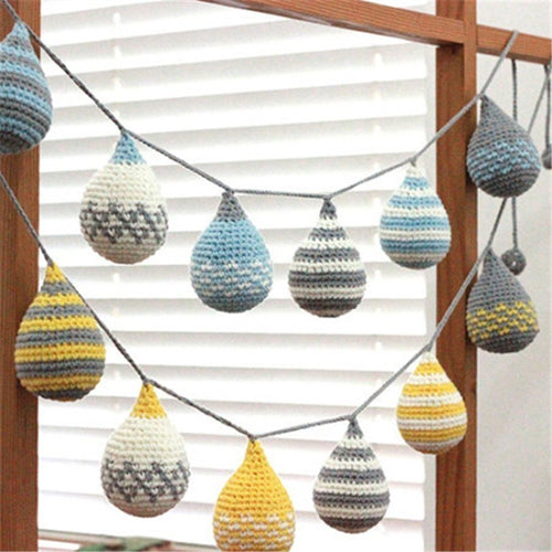 Hand-Woven Drop Garland - Assorted Colours - Nested Nurseries