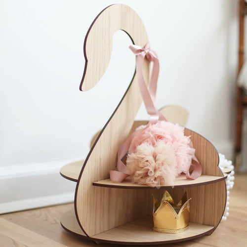 Wooden Swan Floor Shelf - Nested Nurseries
