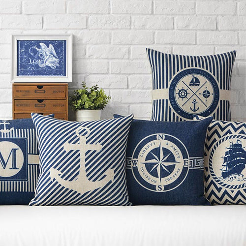 Nautical Theme Cushion Cover Collection - Nested Nurseries