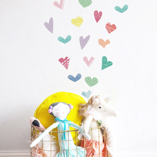 Pastel Heart Wall Decals - Nested Nurseries
