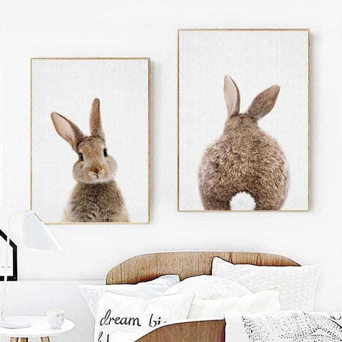 Rabbit Tail Wall Print Collection - Nested Nurseries