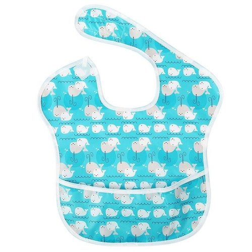 Whale Pocket Bib - Nested Nurseries
