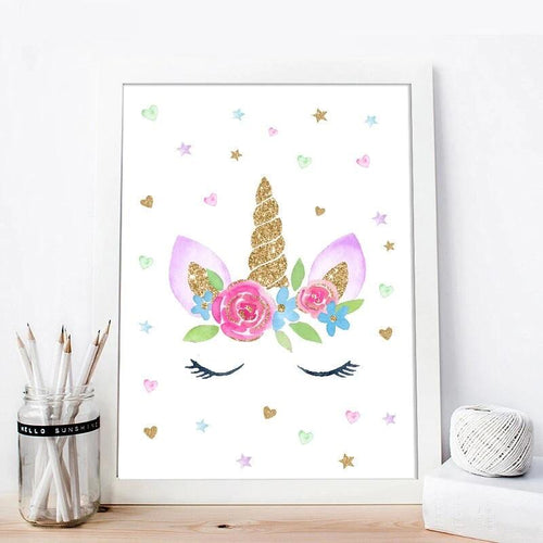 Rainbow Unicorn Wall Print Collection - Nested Nurseries