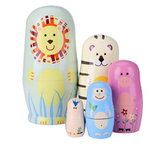 Nesting Doll Set - Assorted Patterns - Nested Nurseries